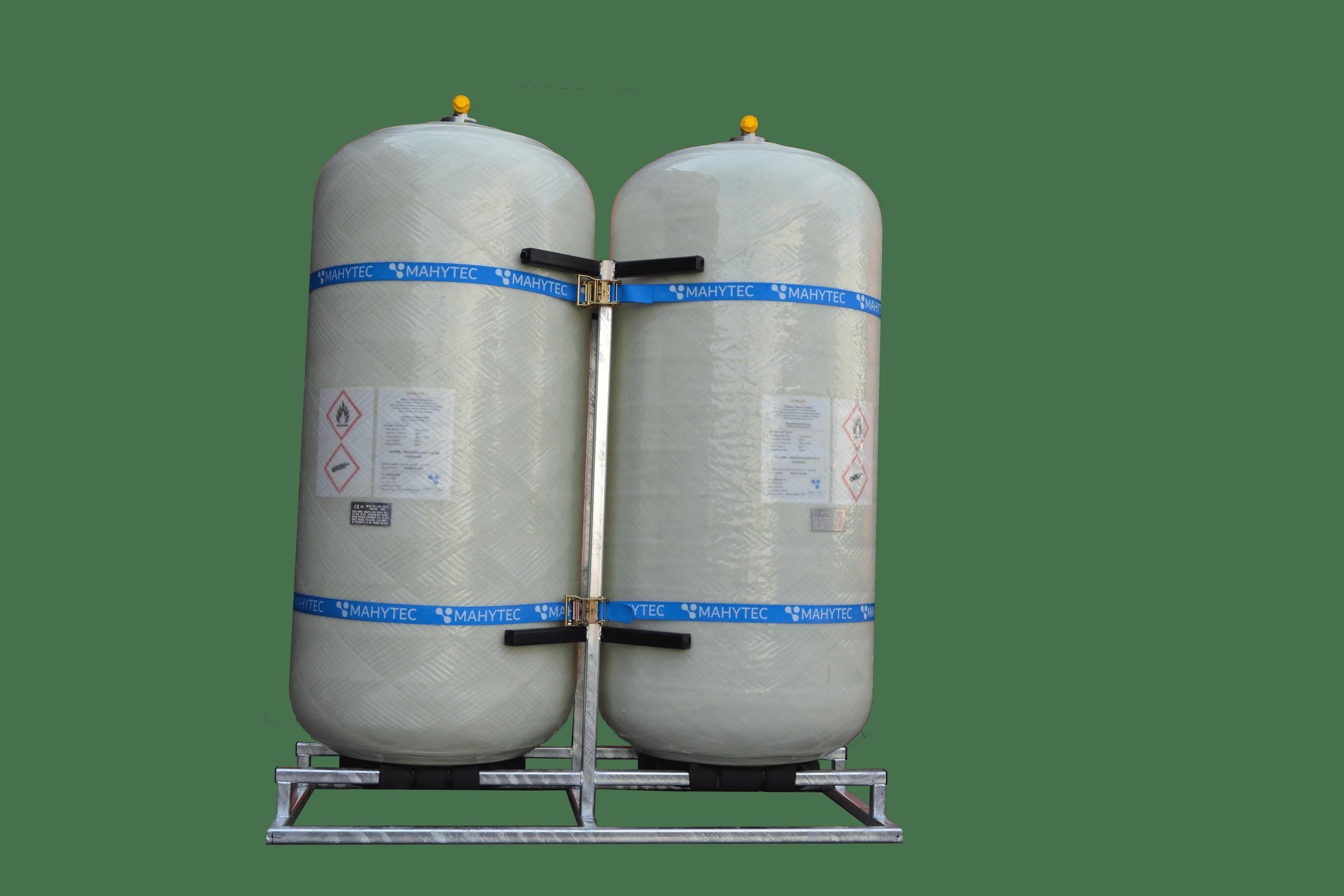 Transport hydrogène : réservoir de stockage d'hydrogène 60 bar 850l - 2