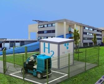 Stockage en éléctricité : SECURITHY voiture électrique et station hydrogène